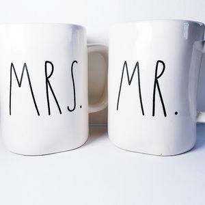 RAE DUNN - Mr & Mrs Coffee Mugs